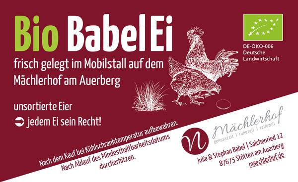 Bio BabelEi Etikett