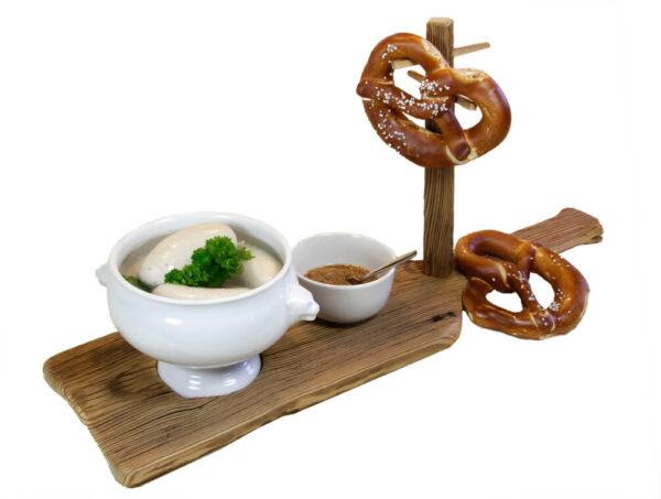 Edelalt - Altholz Weißwurstbrett bayrisch traditionelles Weißwurstfrühstück